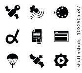 application icons. set of 9... | Shutterstock .eps vector #1032905587