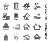 residential icons. set of 16... | Shutterstock .eps vector #1032905593