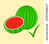 flat fresh and juicy whole... | Shutterstock .eps vector #1032908617