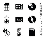 compact icons. set of 9... | Shutterstock .eps vector #1032909427
