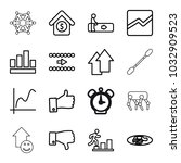 up icons. set of 16 editable... | Shutterstock .eps vector #1032909523