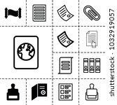 document icons. set of 13...   Shutterstock .eps vector #1032919057