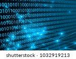 network digital technology... | Shutterstock . vector #1032919213