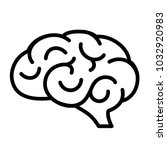 human brain vector icon... | Shutterstock .eps vector #1032920983