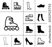 boot icons. set of 13 editable... | Shutterstock .eps vector #1032925753
