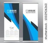 blue roll up business brochure...   Shutterstock .eps vector #1032926263
