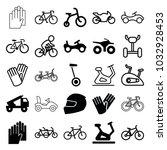 bike icons. set of 25 editable... | Shutterstock .eps vector #1032928453