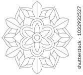 floral mandala for coloring book | Shutterstock .eps vector #1032932527