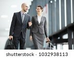 traveling business partners... | Shutterstock . vector #1032938113
