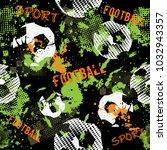 abstract seamless football...   Shutterstock .eps vector #1032943357