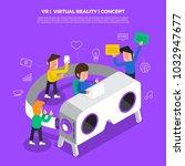 flat design concept brainstorm... | Shutterstock .eps vector #1032947677