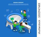 flat design concept brainstorm... | Shutterstock .eps vector #1032947683