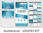 website template  one page... | Shutterstock .eps vector #1032967357