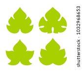 green vine leaf vector icon set ...