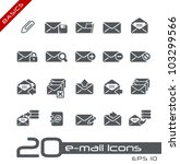 E-mail Icons // Basics - stock vector