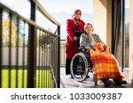 elderly people need care | Shutterstock . vector #1033009387