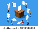 voting concept representing... | Shutterstock .eps vector #1033009843
