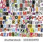big size newspaper  magazine... | Shutterstock . vector #103303493