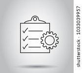 document icon. vector... | Shutterstock .eps vector #1033039957