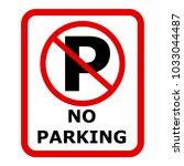 no parking sign icon. vector | Shutterstock .eps vector #1033044487