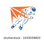 passionate professional in line ... | Shutterstock .eps vector #1033058803