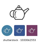 brewing teapot line icon in...