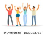 happy group of students. young... | Shutterstock .eps vector #1033063783