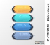 four multicolored hexagonal... | Shutterstock .eps vector #1033066123