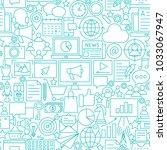 marketing white line seamless... | Shutterstock .eps vector #1033067947