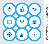 multimedia icons colored set... | Shutterstock .eps vector #1033069513