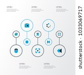 multimedia icons colored set... | Shutterstock .eps vector #1033069717