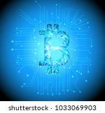bitcoin  low poly ...   Shutterstock .eps vector #1033069903