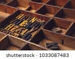 letterpress in a letterpress... | Shutterstock . vector #1033087483