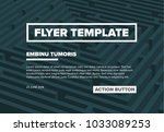 abstract flyer template with... | Shutterstock .eps vector #1033089253
