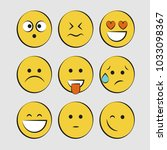 set of smile icons. emoji.... | Shutterstock .eps vector #1033098367