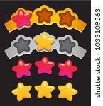 set of stars on ribbon for... | Shutterstock .eps vector #1033109563
