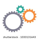 gear machine. vector... | Shutterstock .eps vector #1033131643