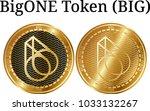 set of physical golden coin...   Shutterstock .eps vector #1033132267
