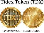 set of physical golden coin...   Shutterstock .eps vector #1033132303