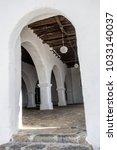 Small photo of SANTA EULARIA DES RIU, SPAIN- JANUARY 12, 2018: Church of santa eularia, fortified medieval building, hill of puig de missa .Santa Eularia des Riu, Ibiza, Spain.