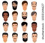 man portrait vector male... | Shutterstock .eps vector #1033144627
