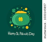 st. patrick's day. symbol of... | Shutterstock .eps vector #1033145857