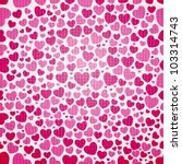 valentine seamless hearts...   Shutterstock .eps vector #103314743