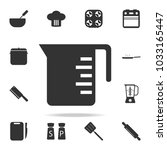measuring cup icon. set of chef ... | Shutterstock .eps vector #1033165447