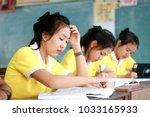 phatthalung  thailand february... | Shutterstock . vector #1033165933