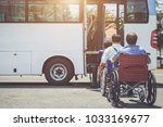 disabled bus concept   disabled ...   Shutterstock . vector #1033169677