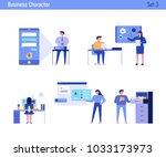 office concept business people vector illustration flat design | Shutterstock vector #1033173973