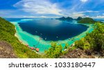 scenic panoramic top view of... | Shutterstock . vector #1033180447