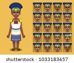 african tribe clothes female... | Shutterstock .eps vector #1033183657