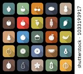 fruit flat icons with long... | Shutterstock .eps vector #1033193917